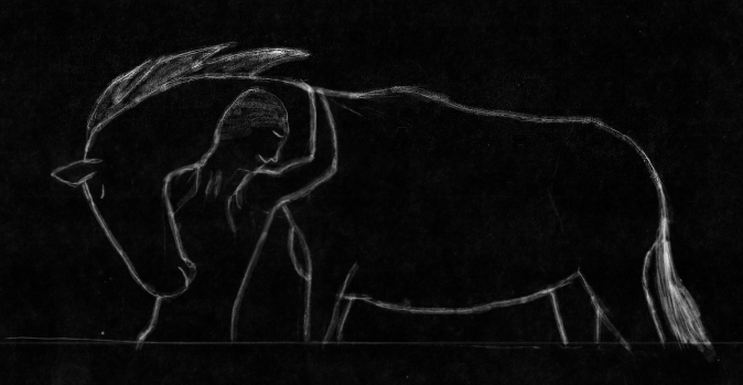 Man and Horse Inverted